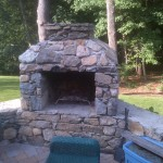 brick stove installation